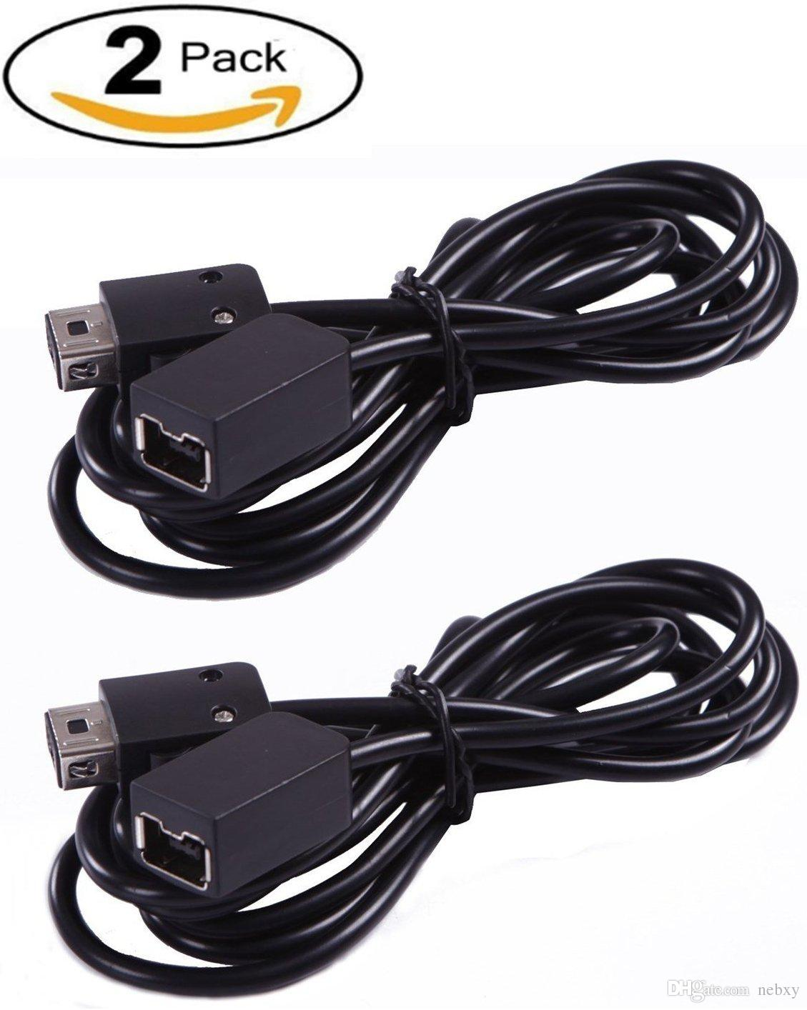 Cable de extensión 2 Pack 10foot / 3Meter para controlador NES Classic Edition y mini controlador NES, negro