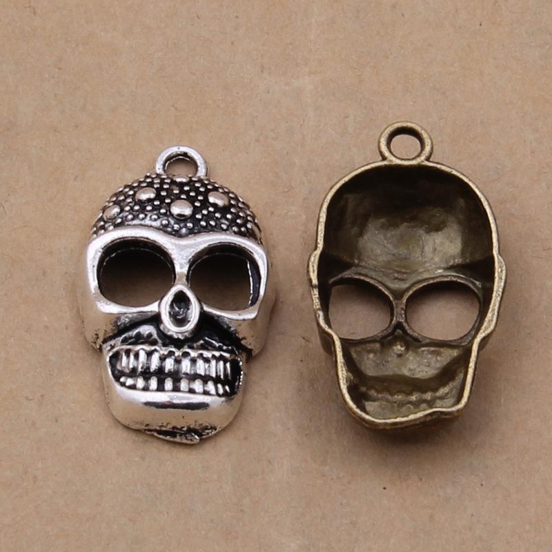 Accessoires de bijoux punk 17 * 28mm AAC1203 de bijoux de punk de crâne d'alliage de cru