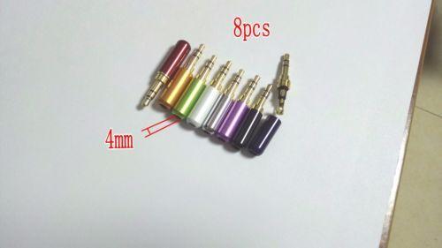 8pcs Mini Plug Kupfer 3,5 mm Stereo Stecker ADAPTER Löten