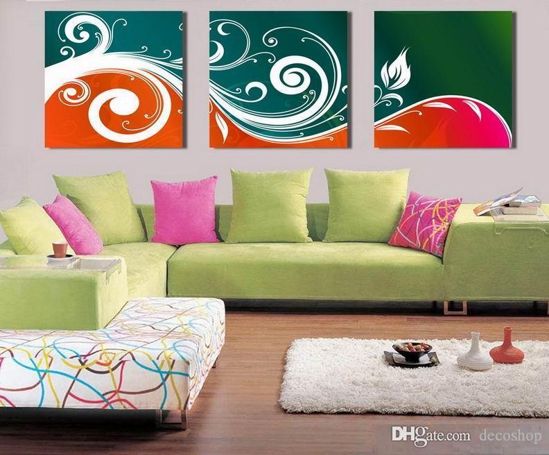 Modern Bela Flor Belas Floral Pintura giclée na lona Home Decor Wall Art Set30367