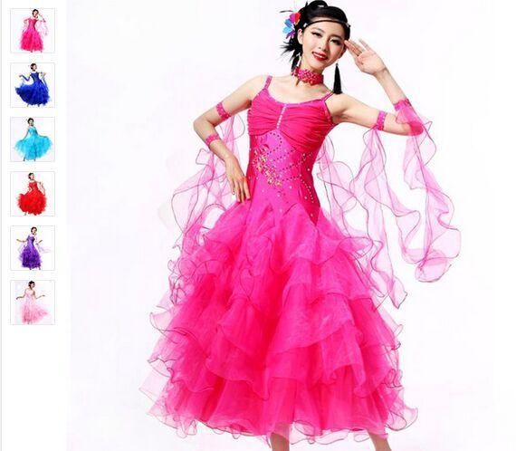 Faldas de baile de salón 10 colores Vestido De Formatura S-XXXL Beyonce Leotardo 2016 Nuevo vestido de vals Escapulario Envío gratis