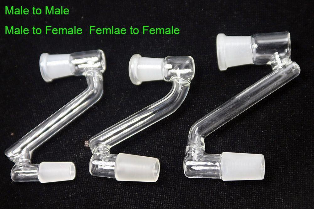 Atacado 14 milímetros / 19 milímetros Masculino Feminino a 14mm / 19 milímetros Feminino Masculino Catcher Adater Drop Down vidro Adapter For Oil Rigs Água Bongos DHL