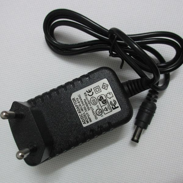 Envío gratis AC 110 ~ 240V Adaptador de fuente de alimentación 10W EU Pulg led adaptador de alimentación 1M WS2812B WS2811, salida 5V 2A