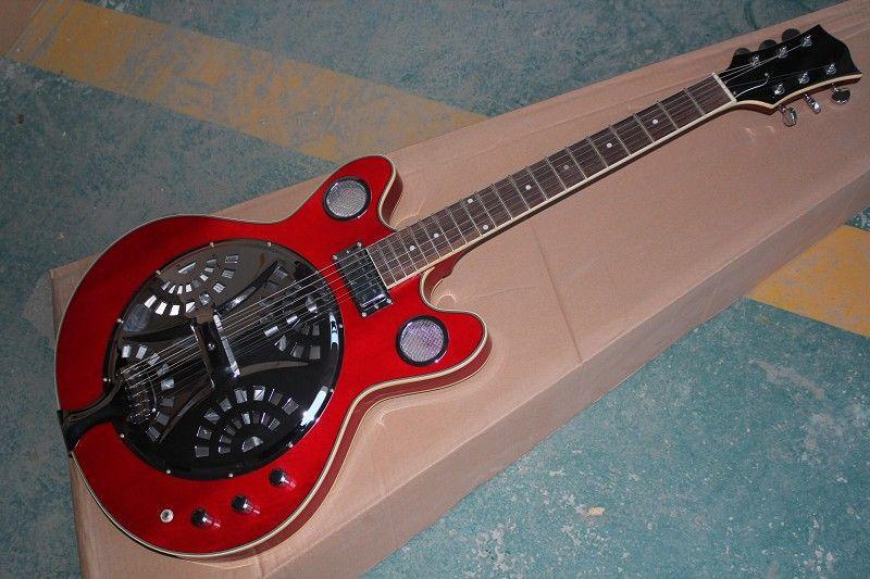 new High Quality maestro brand custom Dobro Resonator burlywood Electric Guitar