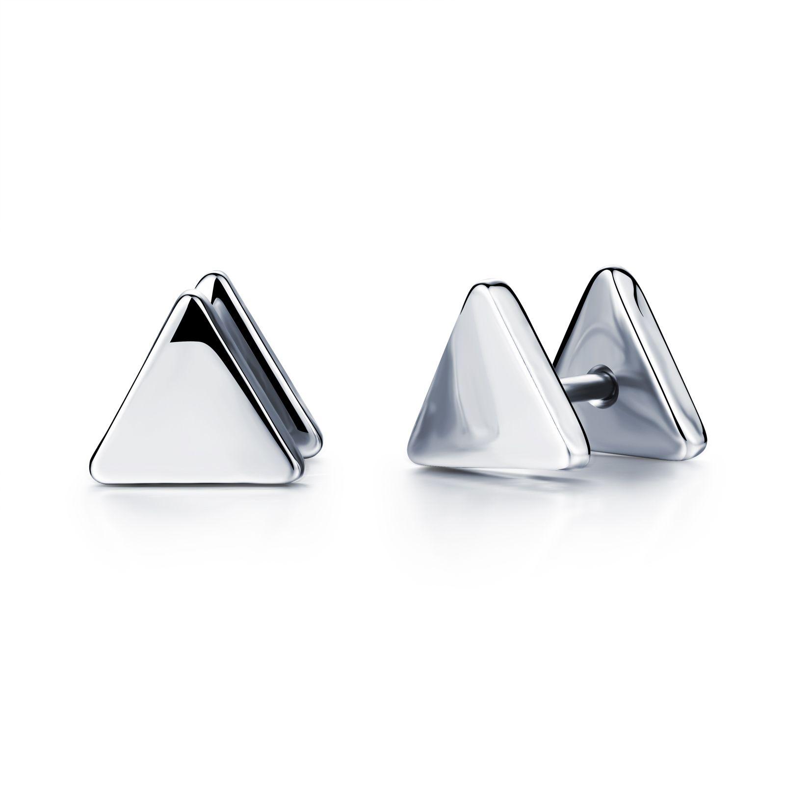 Aretes modernos de tornillo triangular en acero inoxidable