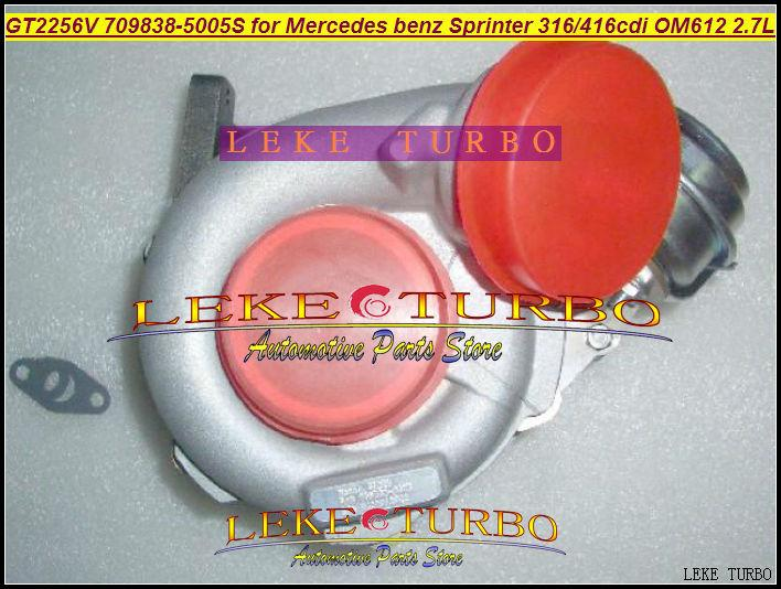 GT2256V 709838-5005S 709838-0004 709838 turbo for Mercedes benz Sprinter I Van 316CDI 416CDI OM612 2.7L turbocharger (1)