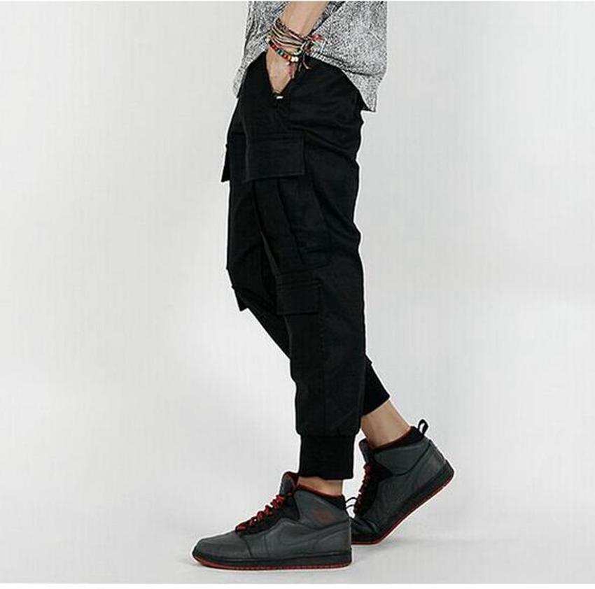 남자의 패션 트렌드를 육성하는 패션 트렌드 성격 측면 입체 포켓 툴링 9 분 바지 / 커스텀