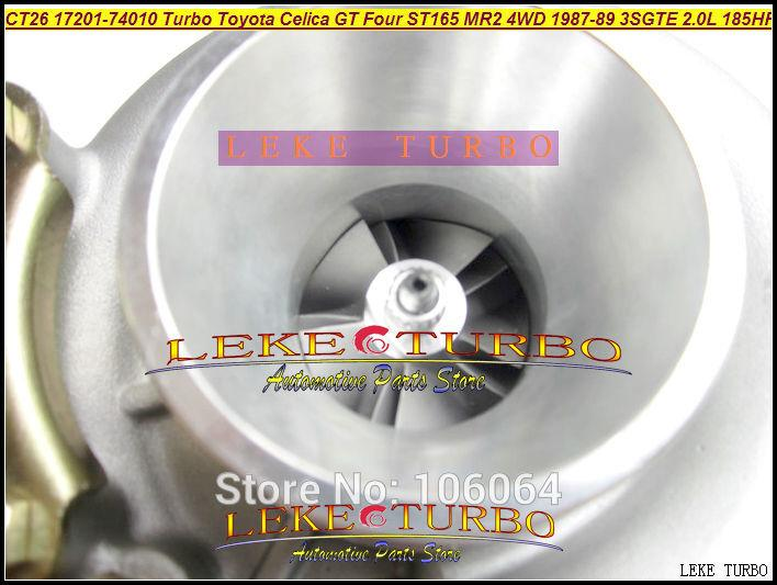 CT26 17201-74010 Turbo Turbocharger For TOYOTA Celica GT Four ST165 MR2 4WD 1987-89 3SGTE 2.0L 185HP 204HP
