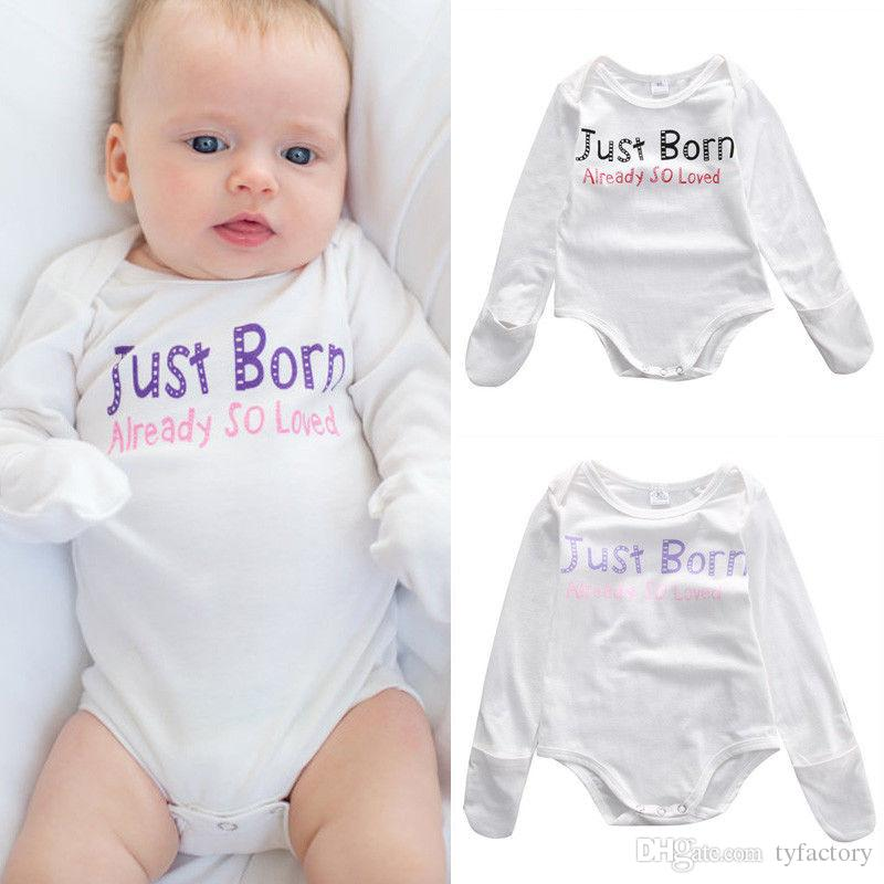 2020 2016 Kids Baby Outfits Newborn Infant Children Boys Girls Bodysuit Casual Romper Just Born Already So Loved Funny Letter Printed Jumpsuit From Tyfactory 3 17 Dhgate Com