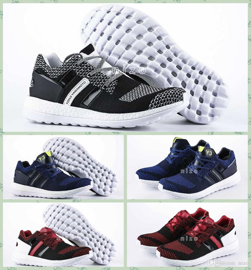 453877946 2016 Y3 Pure Boost Primeknit Boost ZG Knit Mens Athletic Y3 Shoes Pure Boost  Mens Ultra Boost Running Shoes Sports Size 39-45