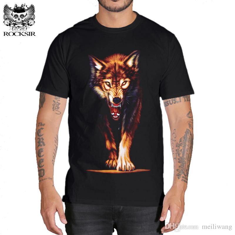 3d loup t-shirt pour hommes Marque 3D Indiens loup Imprimer t-shirts Loups en coton Hommes t-shirt Casual Homme T-shirts Hommes Tops