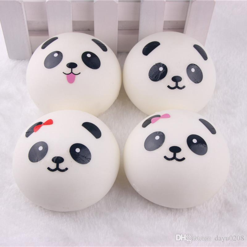 Squishies atacado 50 pcs KAWAII panda squishy crianças apertar cordão de brinquedo para chaves cinta para o telefone móvel pingente acessórios móveis