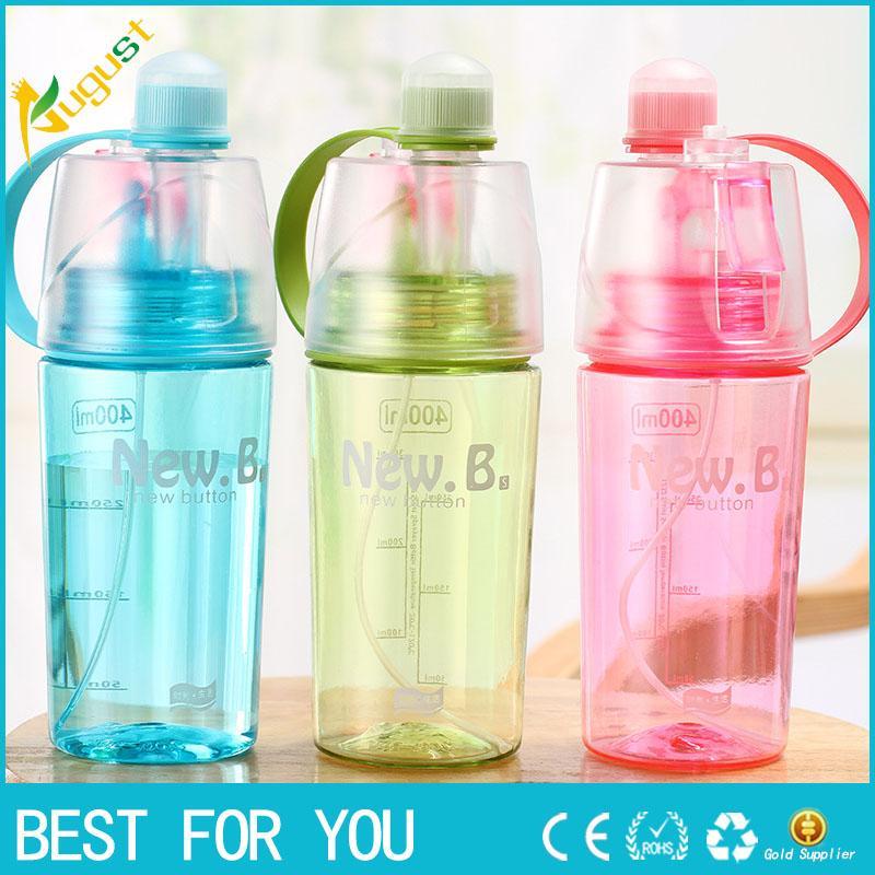 Творческий спрей бутылки воды спорта на открытом воздухе бутылки воды удобно носить с собой летом тоник кулер