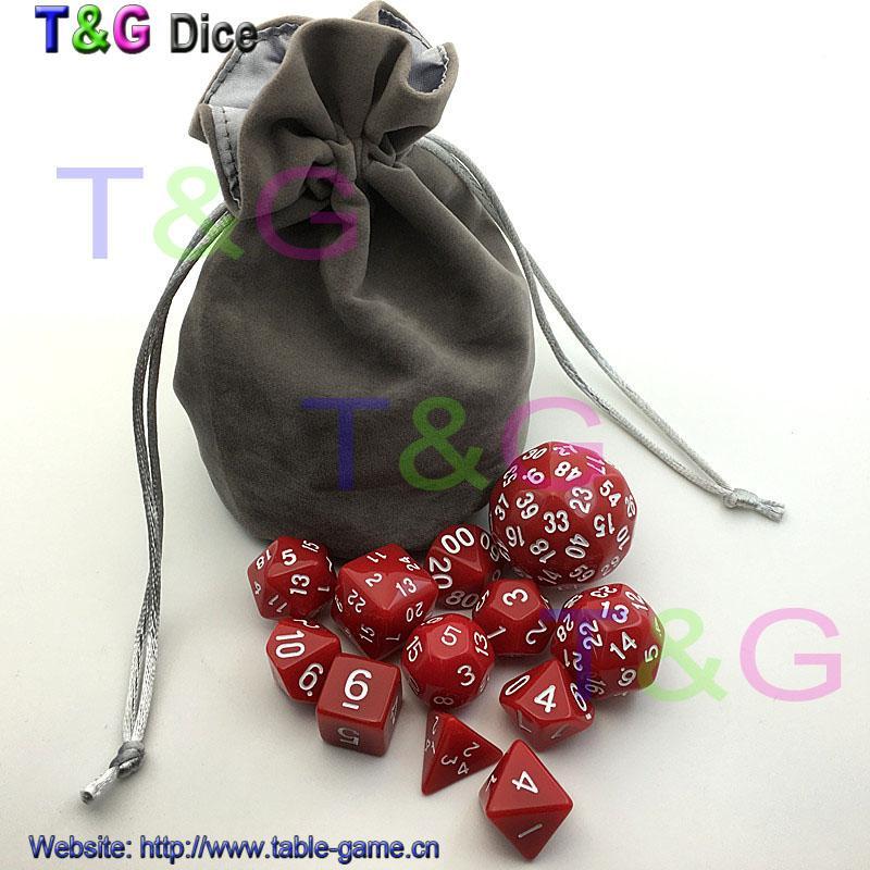 Цифровой кости набор бесплатно бархат сумка 3 цвета d4 d6 d8 3xd10 d12 d16 d20 d24 d30 d60 для dnd RPG игры в кости