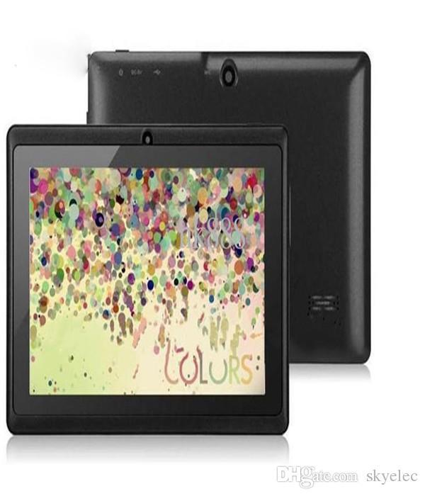 7inch 7 Inch A33 Quad Core Q88 Tablet Allwinner Android 4 4 KitKat Capacitive 1 5GHz DDR3 512MB RAM 4GB ROM Dual Camera Flashlight A23 MQ100