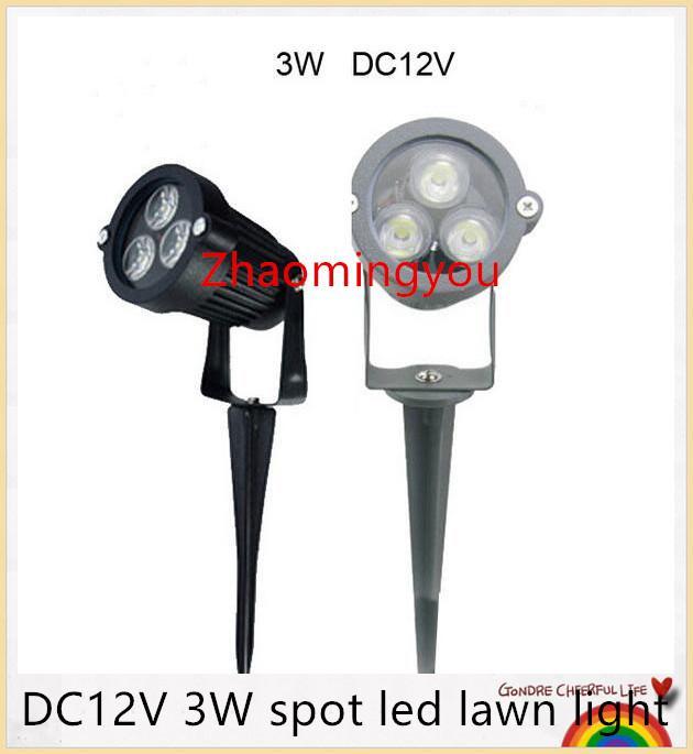 Envío gratis DC12V 3W spot led luz de césped IP67 luces de jardín al aire libre a prueba de agua Rojo Amarillo Verde Azul blanco blanco cálido paisaje