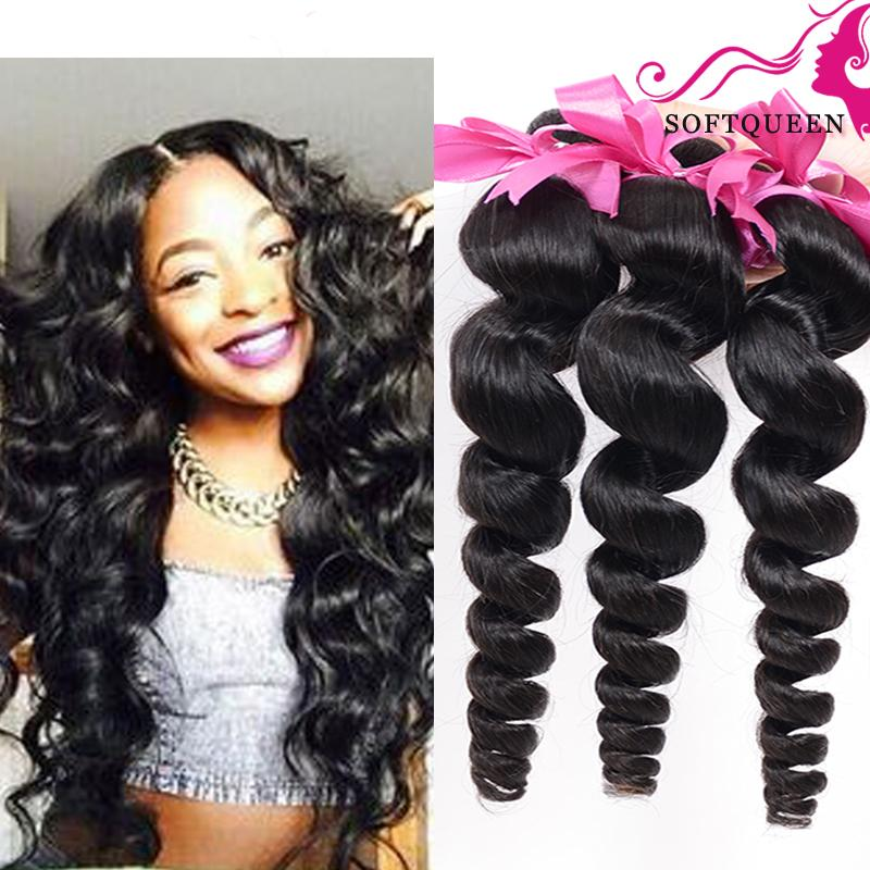 Soft Real Brazilian Human Hair Extentions 8a Double Wefts Malaysian Virgin Hair loose Wave 100g/pc Cheap Natural Wavy loose Wave Hair Weave