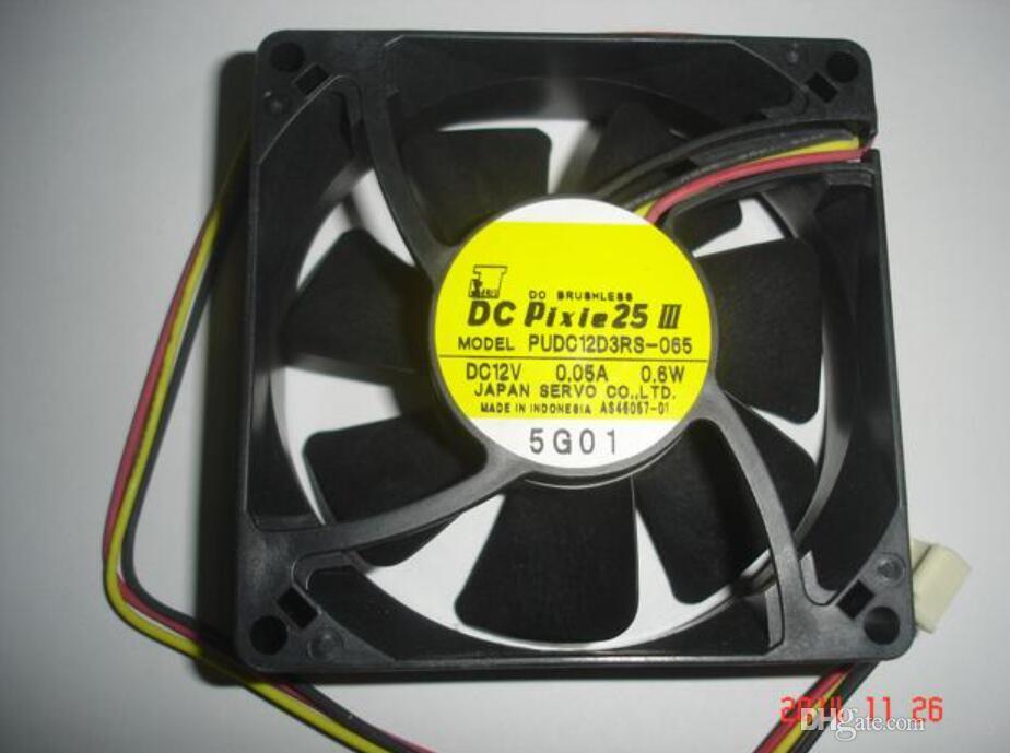 서보 8025 PUDC12D3RS-065의 사각형 냉각 팬, 12V 0.05A 0.6W 3-wire 포함