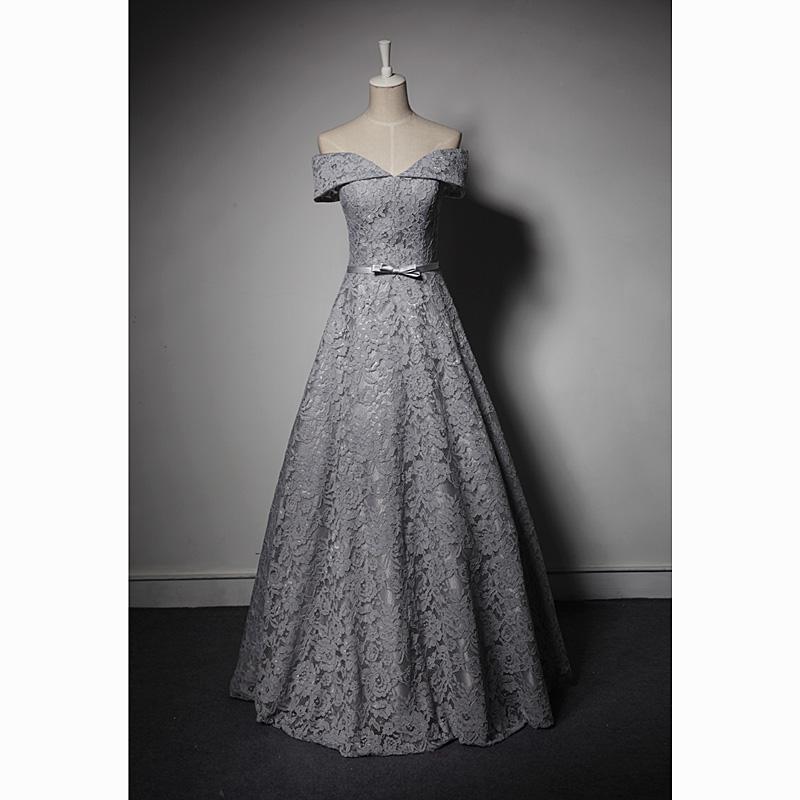 bordado de encaje gris bowknot vestido de bola vestido medieval vestido renacentista princesa victoriana / maría antoinette