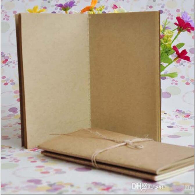 Mini cep inek derisi kağıt dizüstü eski kırtasiye toptan dizüstü Kraft kağıt bloknotlar kalem kroki çizim notları kitap