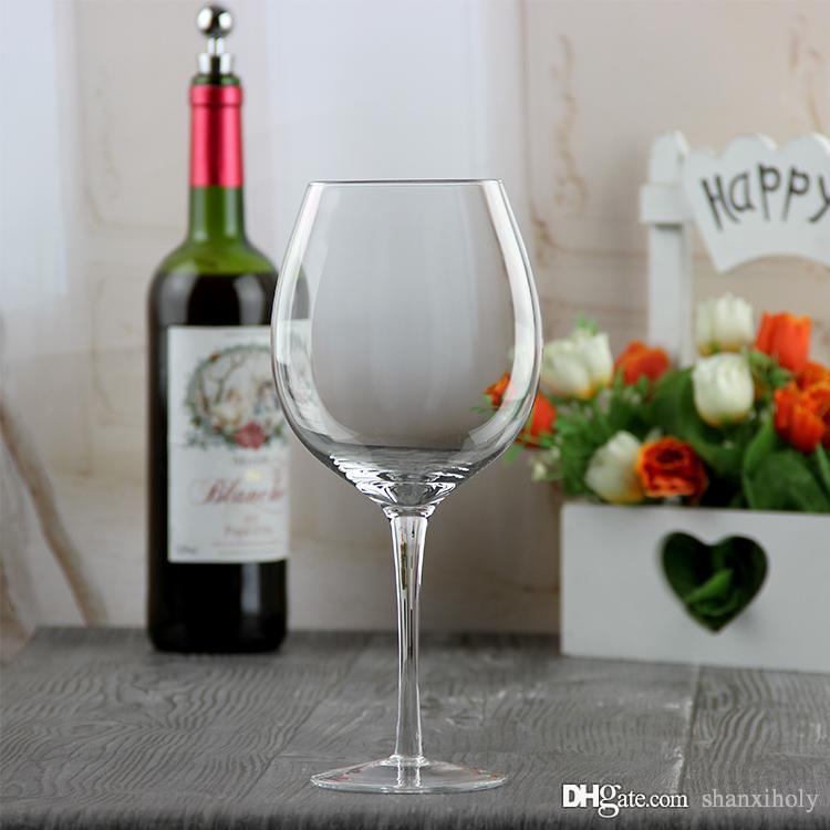 HEILIG Künstliche geblasene Kristall Rotwein Tasse
