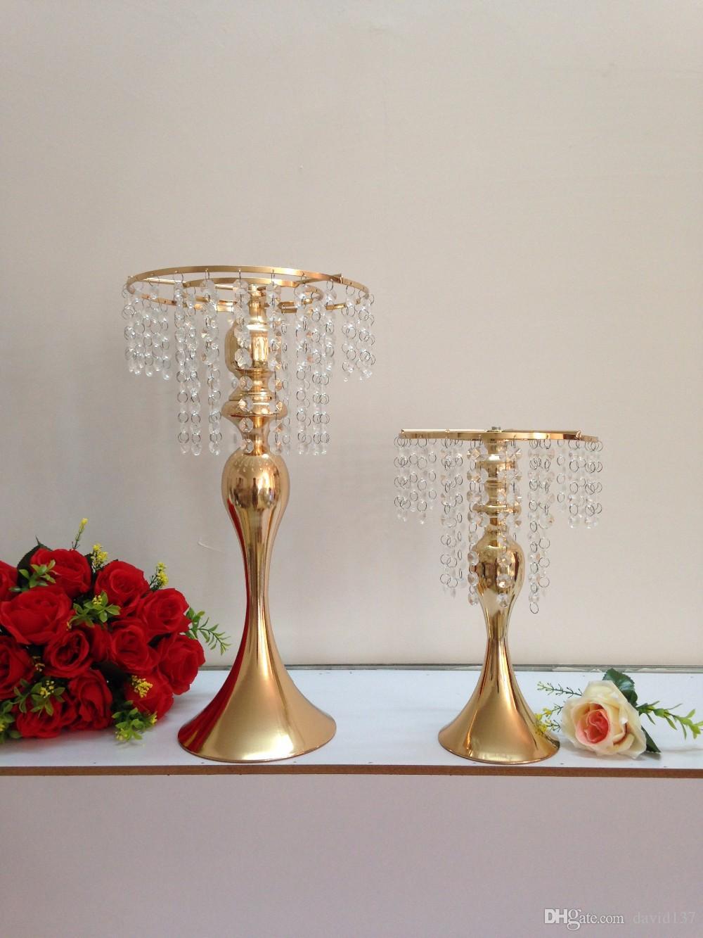 """33 см (13"""") Золотой свадебный стол люстра свадьба цветок ВАЗа цветок стойку свадьба центральным 10 шт. / лот-маленький стиль"""