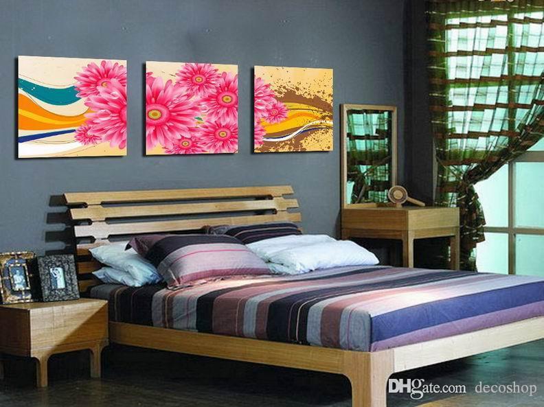 캔버스 홈 벽 장식 Set3329에 Morden의 국화 꽃 추상 꽃 그림 인쇄