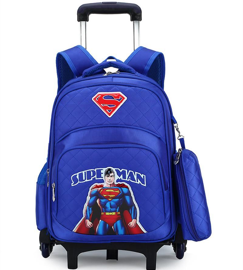 Korean Style Children Backpack Kids boy Cute Pink Detachable2 3 6 wheels Trolley Schoolbags Girls bookbags Mochilas Escolares