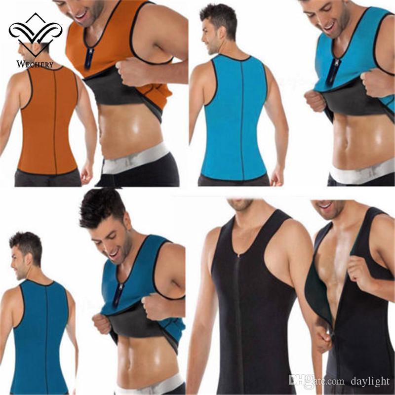 Men/'s Slimming Neoprene Vest Sweat Shirt Body Shaper Waist Trainer Shapewear