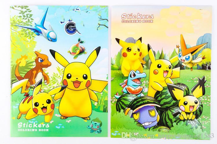 Prettybaby Pikachu Coloring Book Painting Drawing Book Animal ...