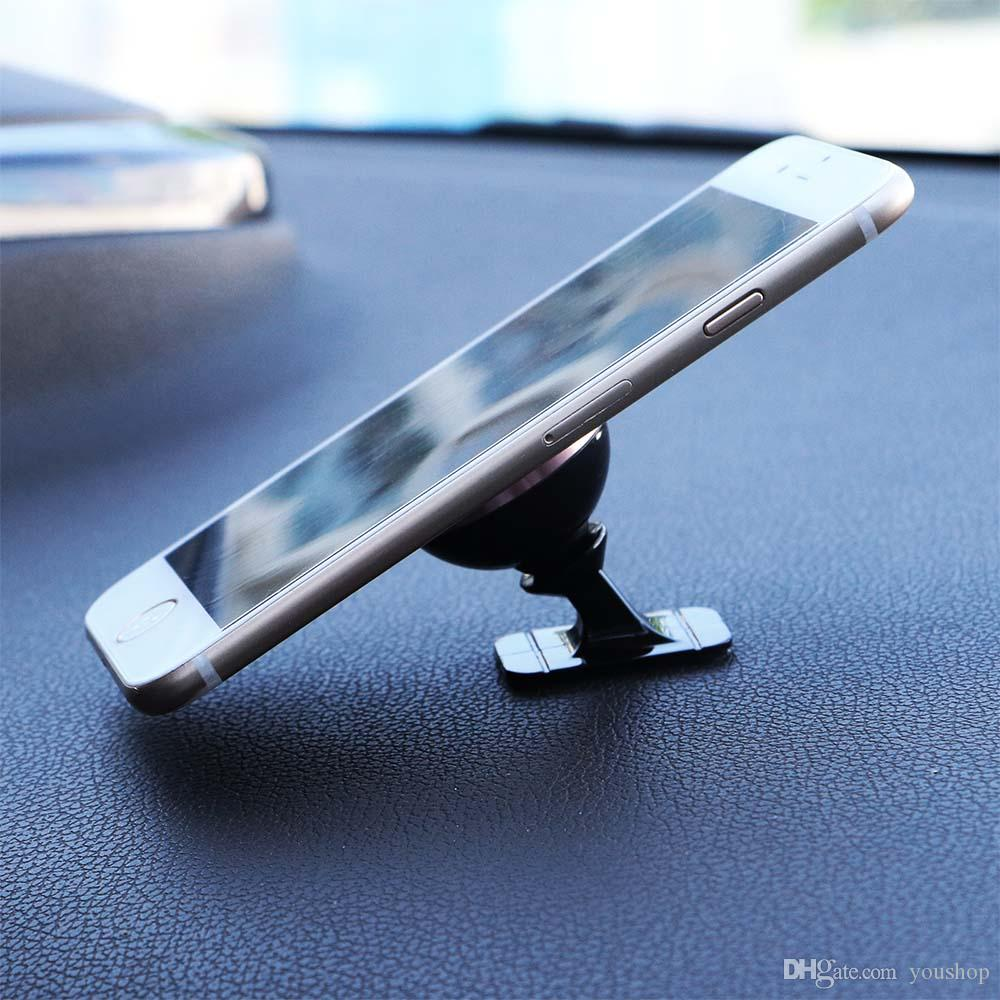 Magnetic Smart Phone Car Mount Holder Metal Dashboard Sticky Phone Holder Cradle for iphone for Samsung for HTC
