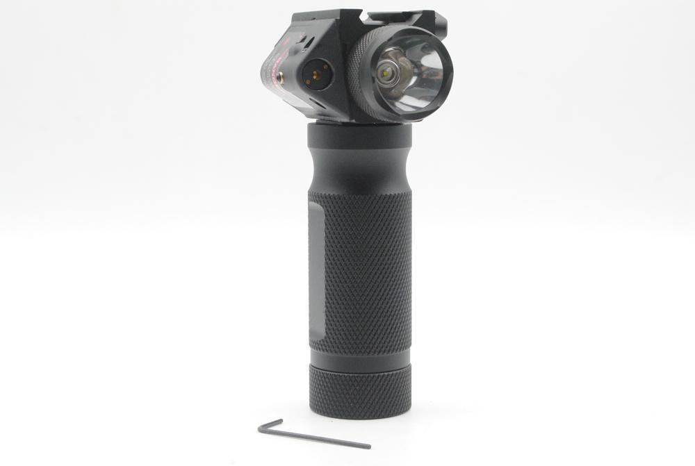 Frete Grátis Tactical Foregrip Aperto de Mão CREE LED Lanterna Red Laser Sight Fit 20mm Rail
