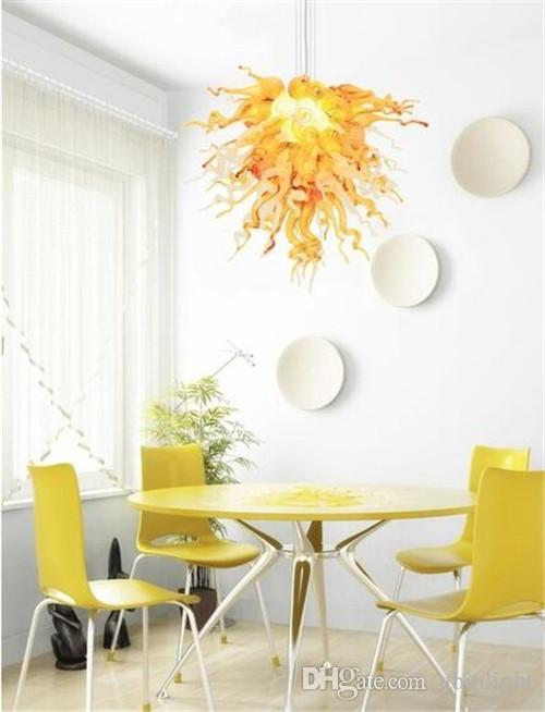 AC110V-220V European Style LED Chandelier Home Design Pretty Colored Murano Glass Pendant Lamps for Free Shipping