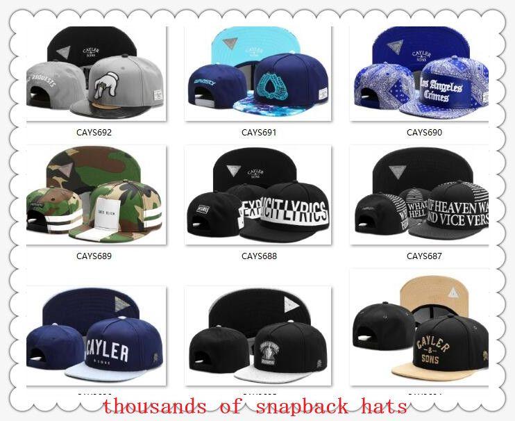 Snapbacks Ball Mössor Fashion Street Headwear Justerbar storlek Cayler Sons Anpassade fotboll Baseball Caps Drop Shipping Toppkvalitet