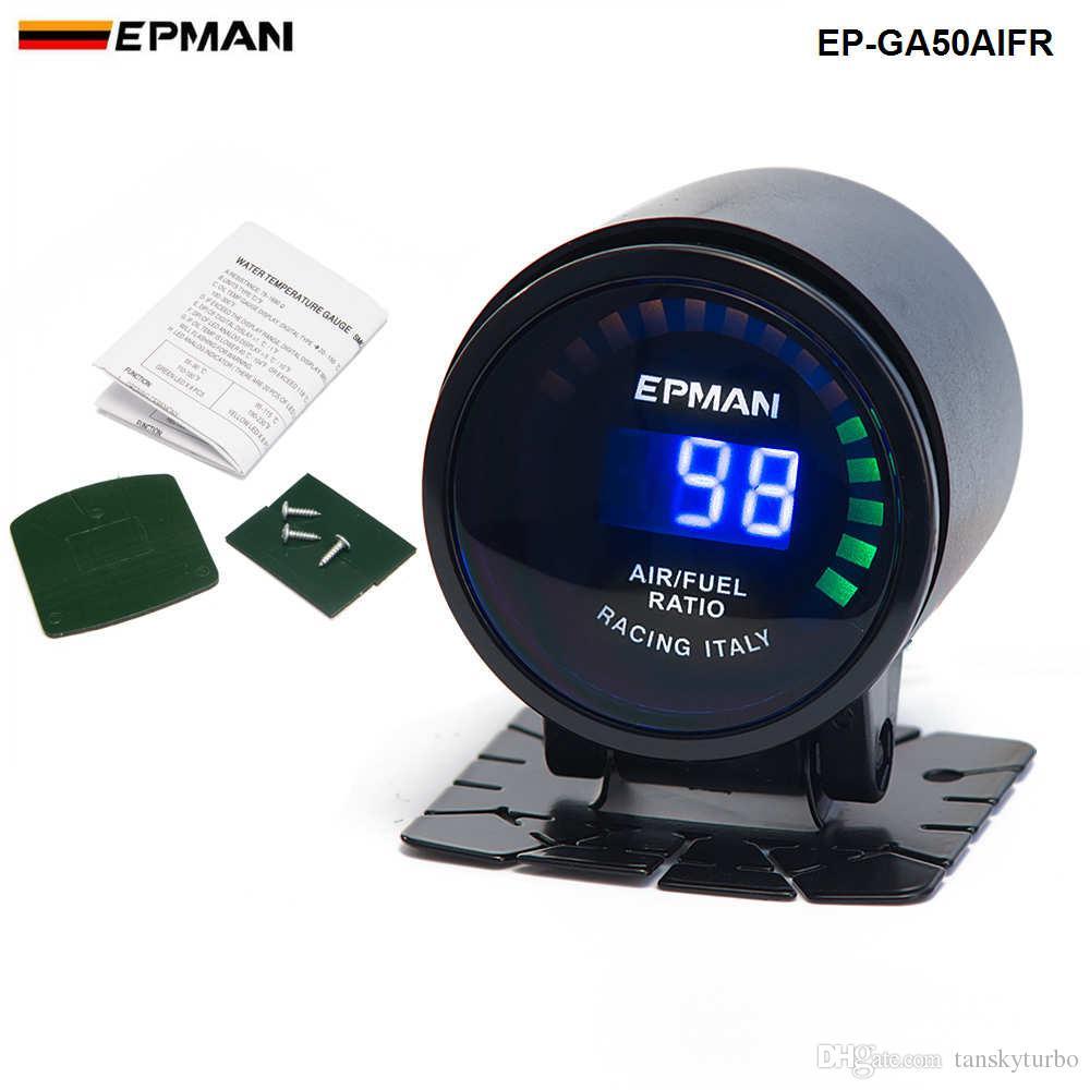 """تانسكي - إبمان Epman Racing 2 """"52mm Digital Color Analog LED Air / Fuel Ratio Monitor Racing Gauge EP-GA50AIRF"""
