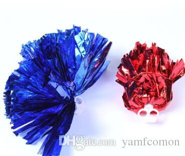 pom poms Cheerleading 50g Cheering pompom Metallic Pom Pom Cheerleading products many colors for your choose