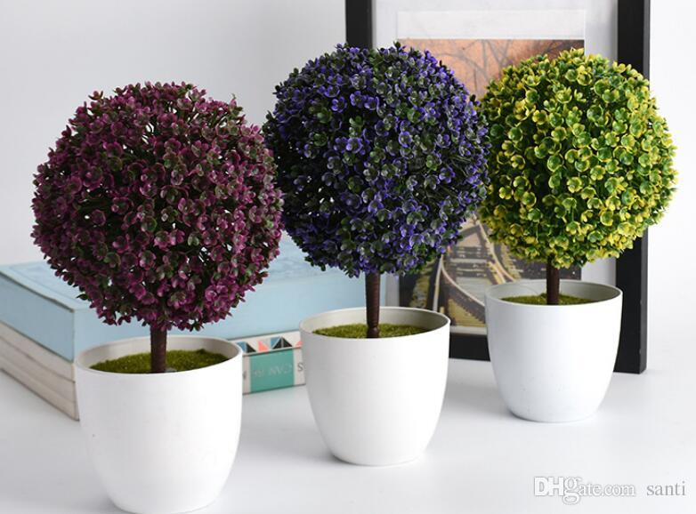 DHgate.com & New Welcoming Sakura Emulate Bonsai Simulation Decorative Artificial Flowers Fake Green Pot Plants Ornaments Home Decor 2nd Birthday Party 2nd ...
