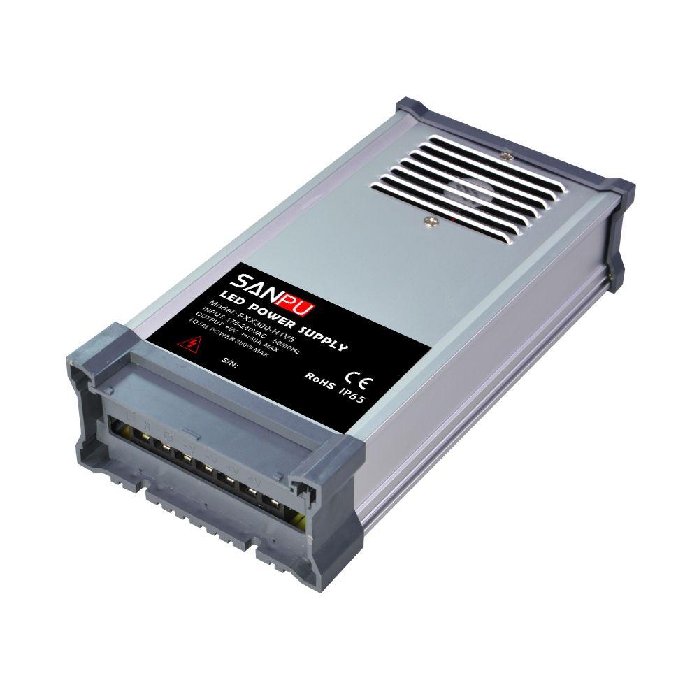 SANPU SMPS 300 W LED Pilote 5 V 60A Unique Sortie Constante Tension Alimentation à découpage AC-DC Transformateur Rainoproof pour Affichage