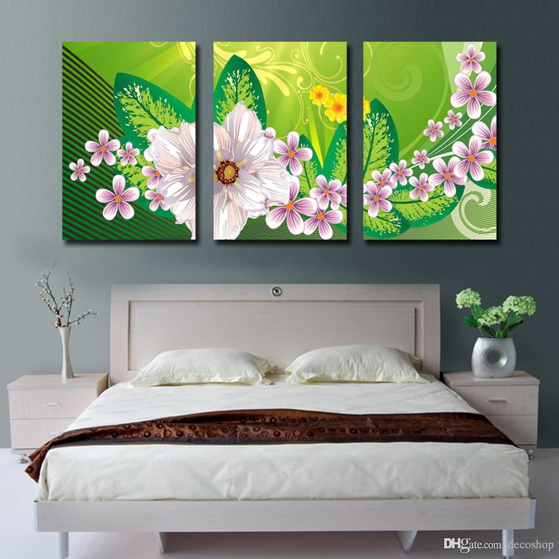 현대 아름 다운 꽃 괜 찮 아 요 꽃 그림 Giclee 캔버스에 인쇄 홈 장식 벽 예술 Set30185