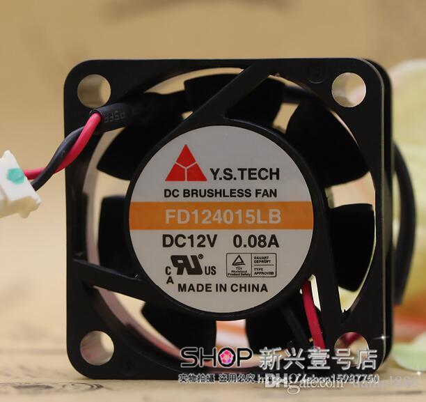 Originale Y.S.TECH FD124015LB 4015 12V 0.08A 4CM 40 * 40 * 15mm ventola di raffreddamento a due fili