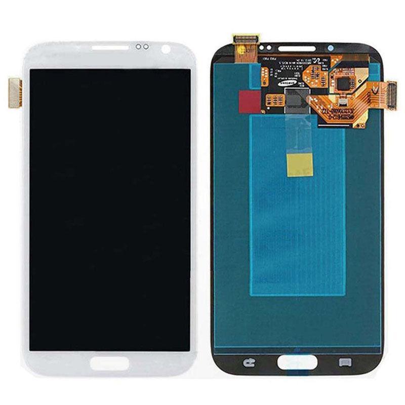 Asamblea de digitalizador de pantalla táctil LCD para Samsung Galaxy Note II 2 N7100 Blanco