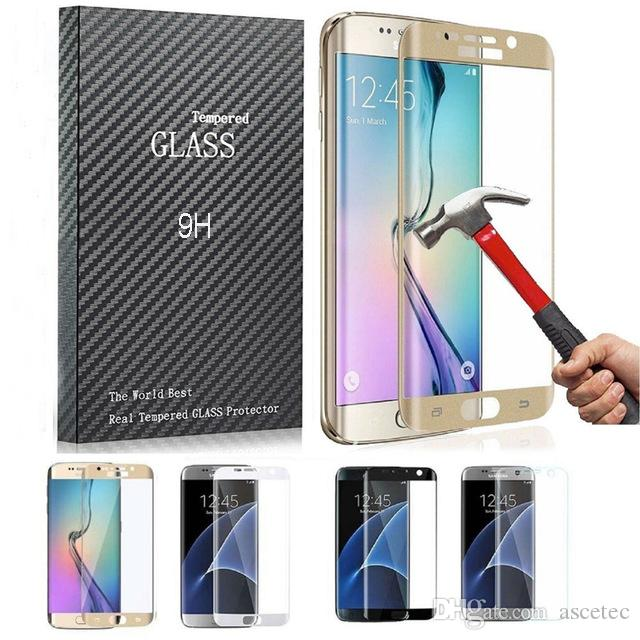 For Samsung S8 S8 Plus S7 S6/edge plus 3D Full Coverd Colored Huawei P9 plus LG G5 Tempered Glass Full Coverage Colorful Screen Protector
