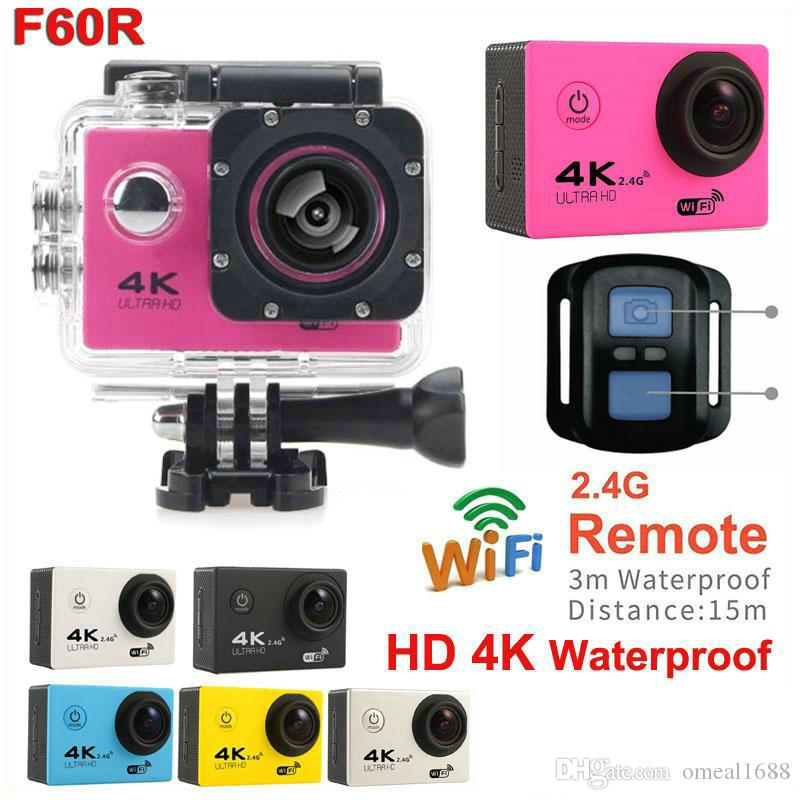 """عمل الكاميرا F60 Allwinner V3 4K / 30fps 1080P / 60fps واي فاي 2.0 """"170D خوذة كام كاميرات الفيديو تحت الماء للماء كاميرا 4K JBD-N8"""