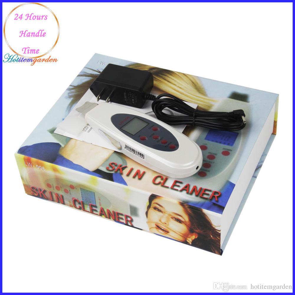 Mini Cleaner visage Massager LCD peau Peeling Rajeunissement ultrasons peau Scrubber taches sombres rides Réduire l'équipement de beauté