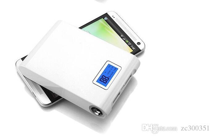 شاشة LCD Power Bank 12000 MAH، 18650 بطارية، USB بطارية احتياطية، مصباح يدوي LED