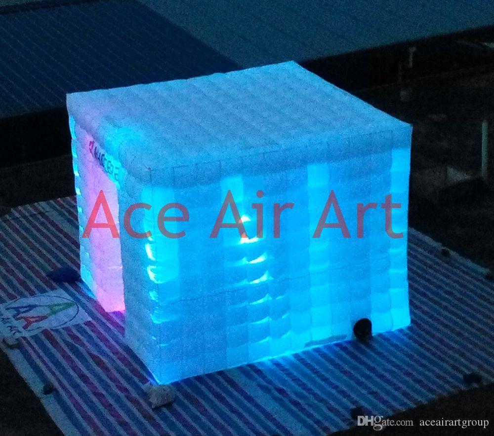 a melhor qualidade que ilumina a cabine conduzida inflável da foto do casamento com o ventilador de ar livre