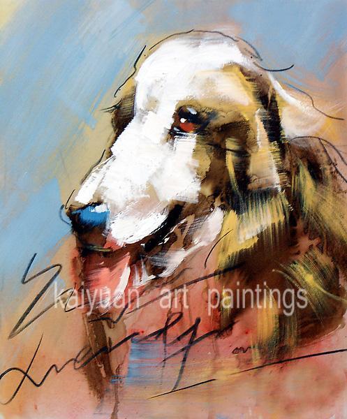 Le migliori pitture a olio animali di qualità dipinti a mano del cane del fumetto Colori artistici su tela di canapa per la decorazione domestica parete 1pc Supporto droppshipping