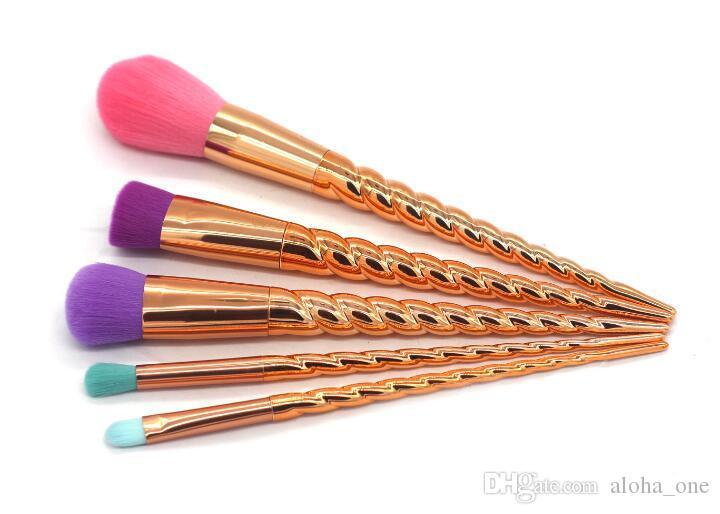 5 colori brillanti oro trucco pennello strumenti di trucco a vite strumenti di trucco pennello trucco contorno spedizione DHL
