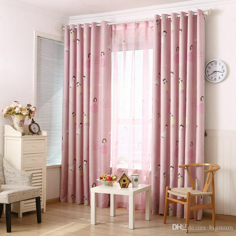 2019 New Arrival Girl\'S Cartoon / Printing Curtain Sheer Curtains Blackout  For The Bedroom / Living Room Window Drape From Bigmum, $20.34 | DHgate.Com