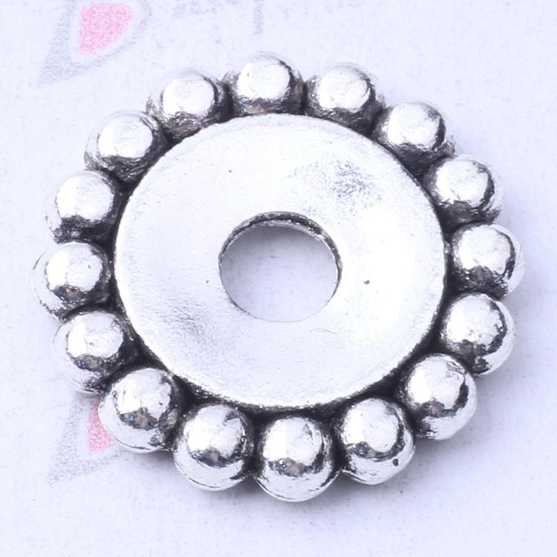 Granos del espaciador del copo de nieve de plata / encantos de bronce cupieron las pulseras o el collar DIY joyería 200pcs / lot 3145z